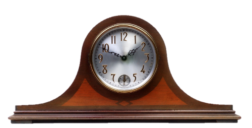 brown color wall clock